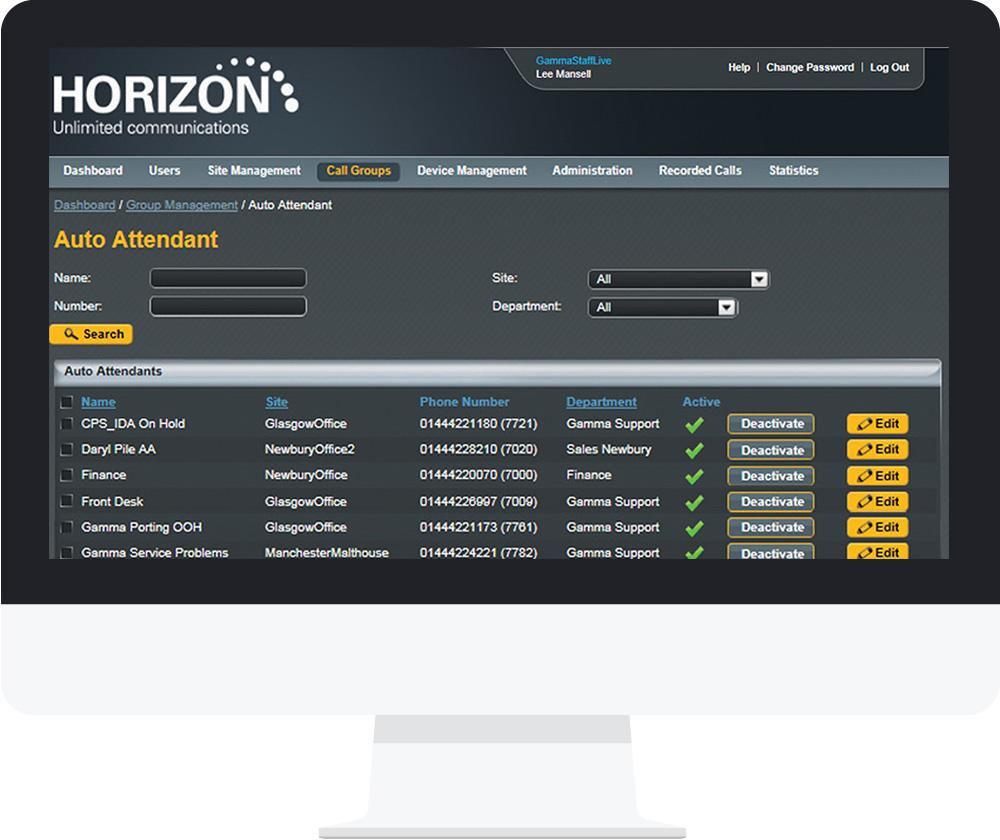 horizon web portal